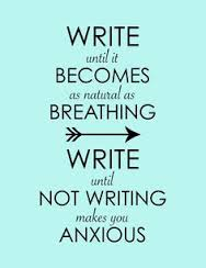 writing until anxious