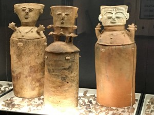 Magdalena funerary urns in the old Cartagena museum