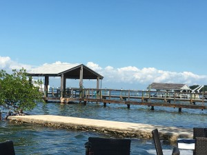 Our view from our lunch table at Mile 88 in the Keys