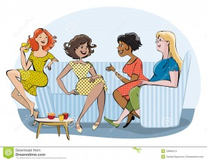 group-chatting-women-vector-cartoon-drinking-coffee-43684674